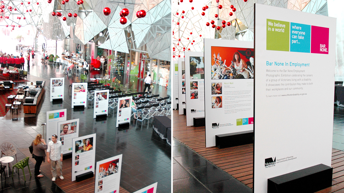 Exhibition Displays : Office for disability display design immediacy media